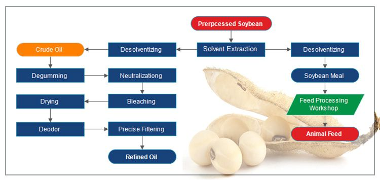 Soya Bean Oil Production Process